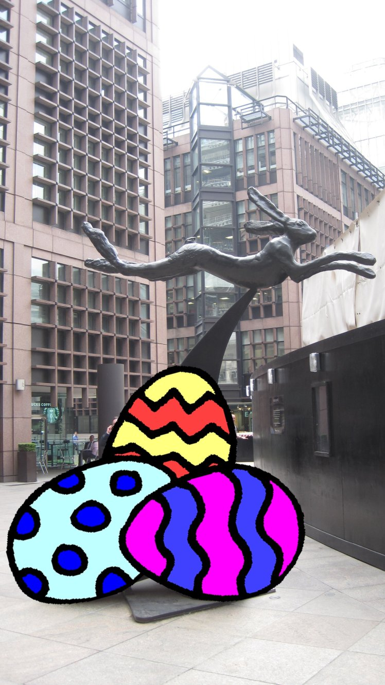 easter bunny with eggs (Hare and Bell)