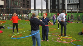 Teaching treasure hunters to hula hoop