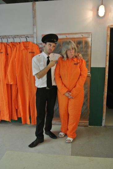 Prisoner being told the rules by Prison Guard. Photo by Juliamaud