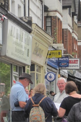 Searching for clues in Chingford