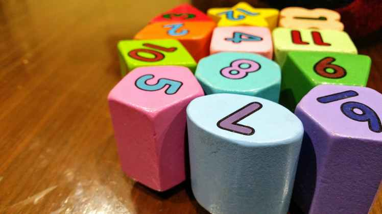 blocks blur close up colorful