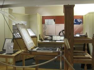 Printing press at the Globe - photo by Juliamaud